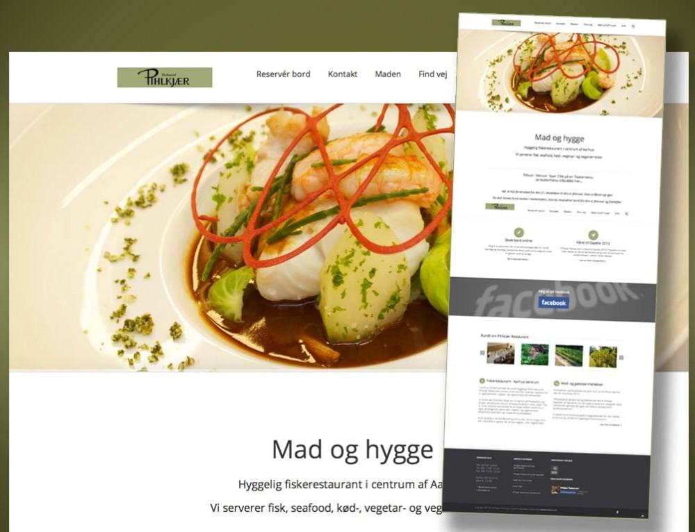 Pihlkjær Restaurants nye hjemmeside